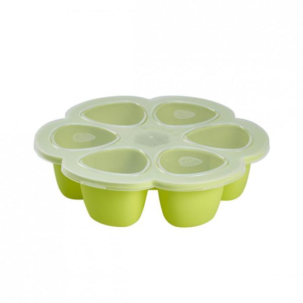 beaba-912454-3-multiportions-silicone-690-ml-neon